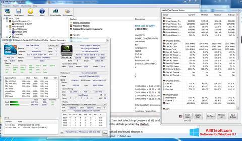 Ekran görüntüsü HWiNFO Windows 8.1