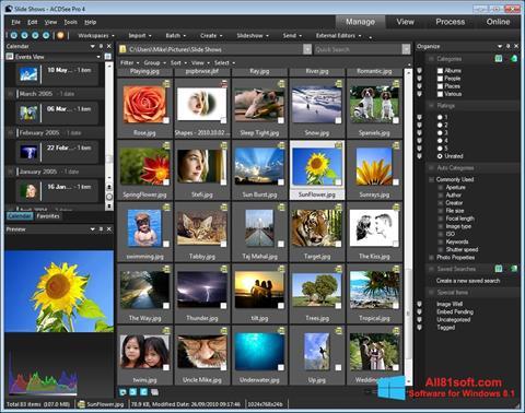 Ekran görüntüsü ACDSee Windows 8.1