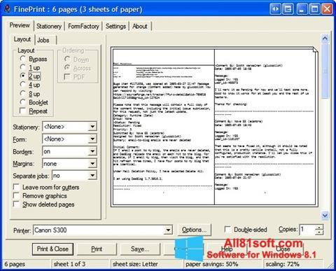 Ekran görüntüsü FinePrint Windows 8.1