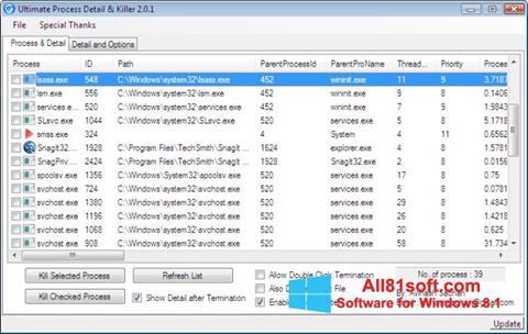 Ekran görüntüsü Process Killer Windows 8.1