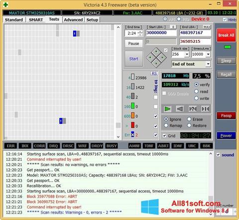 Ekran görüntüsü Victoria Windows 8.1