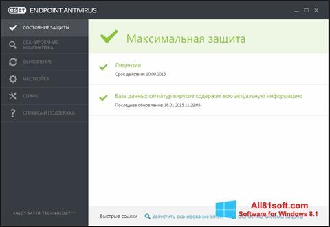 Ekran görüntüsü ESET Endpoint Antivirus Windows 8.1