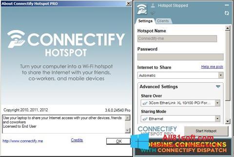 Ekran görüntüsü Connectify Windows 8.1