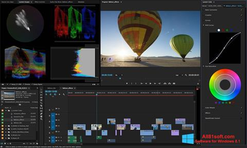 Ekran görüntüsü Adobe Premiere Pro Windows 8.1