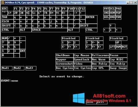 Ekran görüntüsü DOSBox Windows 8.1