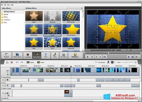 Ekran görüntüsü AVS Video Editor Windows 8.1