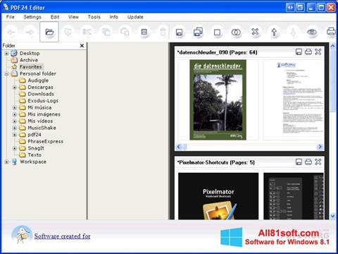 Ekran görüntüsü PDF24 Creator Windows 8.1