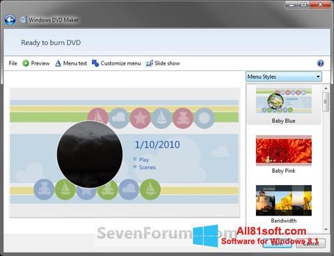 Ekran görüntüsü DVD Maker Windows 8.1