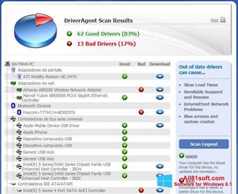 Ekran görüntüsü DriverAgent Windows 8.1