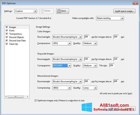 Ekran görüntüsü Adobe Acrobat Pro DC Windows 8.1