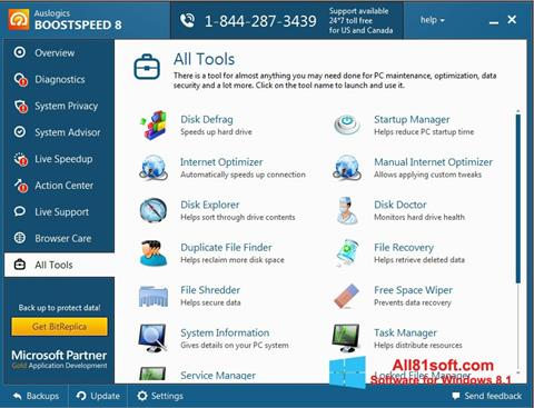 Ekran görüntüsü Auslogics BoostSpeed Windows 8.1