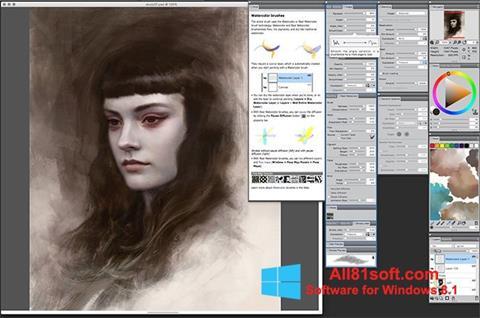 Ekran görüntüsü Corel Painter Windows 8.1