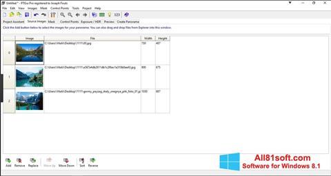 Ekran görüntüsü PTGui Windows 8.1