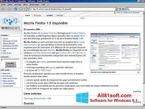 Ekran görüntüsü Mozilla Firefox Windows 8.1