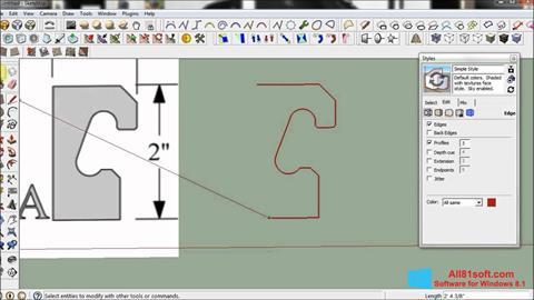 Ekran görüntüsü SketchUp Windows 8.1
