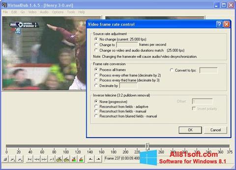 Ekran görüntüsü VirtualDubMod Windows 8.1
