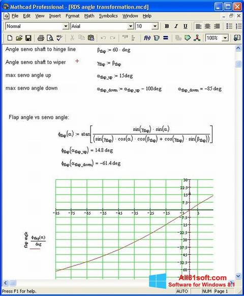 Ekran görüntüsü MathCAD Windows 8.1