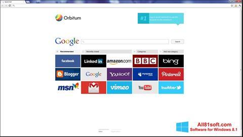 Ekran görüntüsü Orbitum Windows 8.1