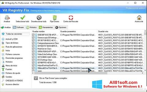 Ekran görüntüsü Vit Registry Fix Windows 8.1