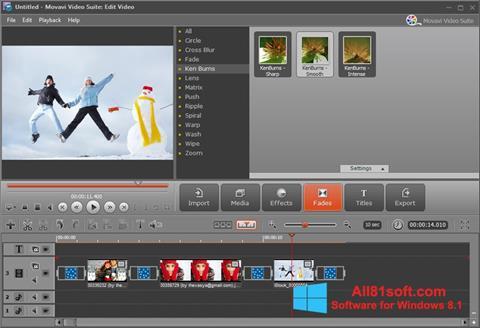 Ekran görüntüsü Movavi Video Suite Windows 8.1