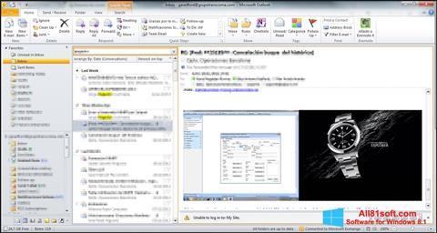 Ekran görüntüsü Microsoft Outlook Windows 8.1