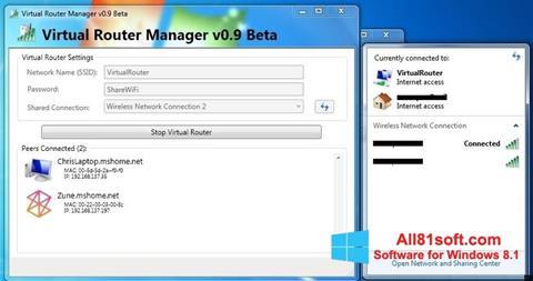 Ekran görüntüsü Virtual Router Manager Windows 8.1