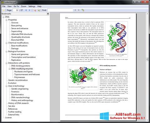 Ekran görüntüsü Sumatra PDF Windows 8.1