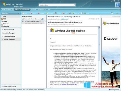 Ekran görüntüsü Windows Live Mail Windows 8.1