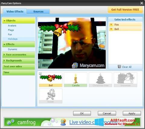Ekran görüntüsü ManyCam Windows 8.1