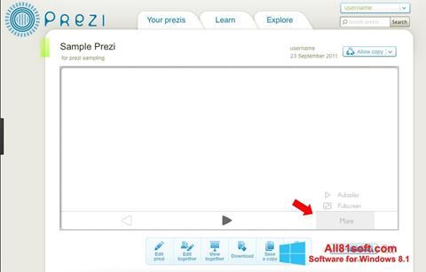 Ekran görüntüsü Prezi Windows 8.1