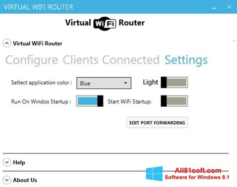 Ekran görüntüsü Virtual WiFi Router Windows 8.1