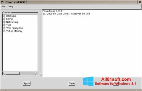 Ekran görüntüsü PowerTweak Windows 8.1