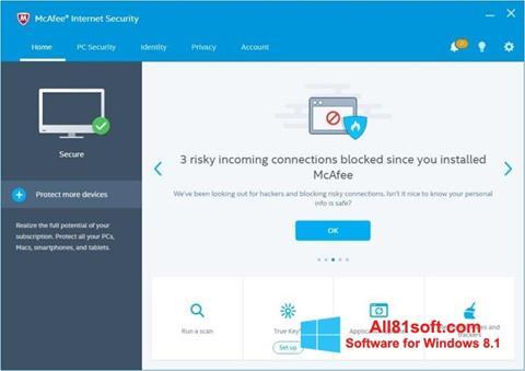 Ekran görüntüsü McAfee Internet Security Windows 8.1