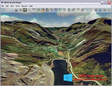 Ekran görüntüsü NASA World Wind Windows 8.1