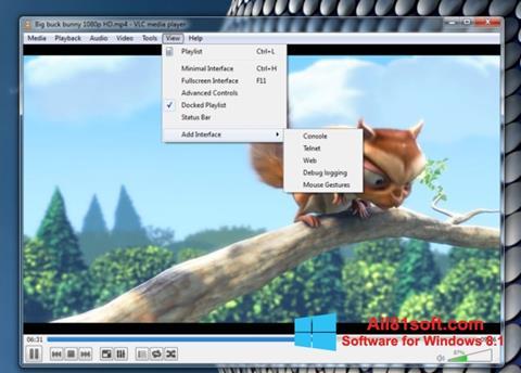Ekran görüntüsü VLC Media Player Windows 8.1