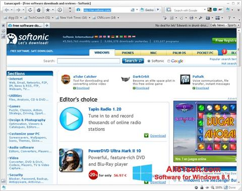 Ekran görüntüsü Lunascape Windows 8.1