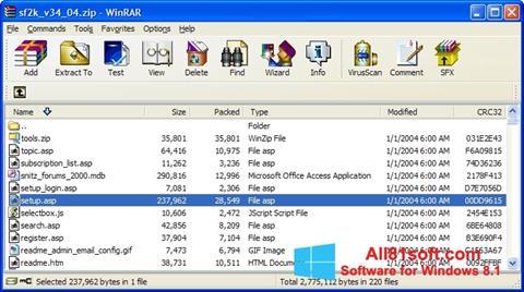 Ekran görüntüsü WinRAR Windows 8.1