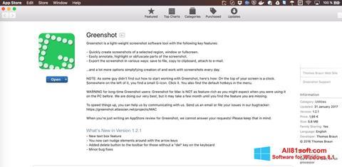 Ekran görüntüsü Greenshot Windows 8.1