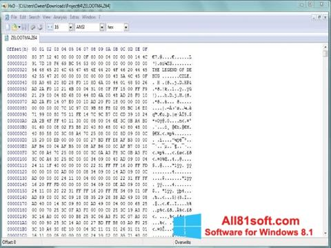 Ekran görüntüsü Hex Editor Windows 8.1