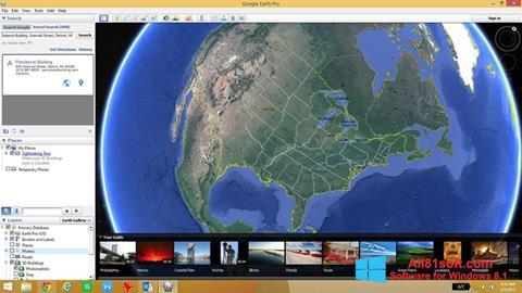 Ekran görüntüsü Google Earth Pro Windows 8.1