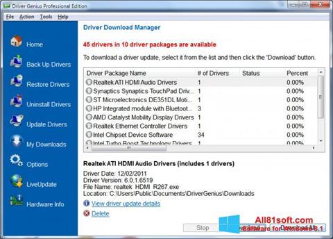 Ekran görüntüsü Driver Genius Professional Windows 8.1
