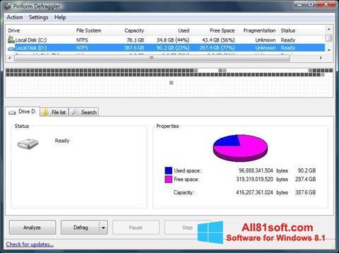 Ekran görüntüsü Defraggler Windows 8.1