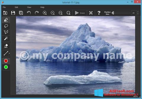 Ekran görüntüsü Inpaint Windows 8.1