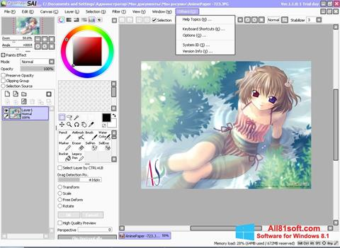 Ekran görüntüsü Paint Tool SAI Windows 8.1