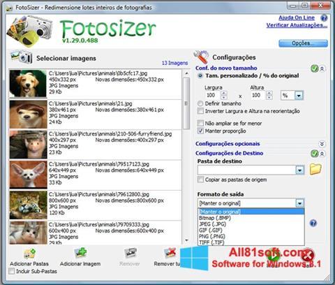 Ekran görüntüsü Fotosizer Windows 8.1