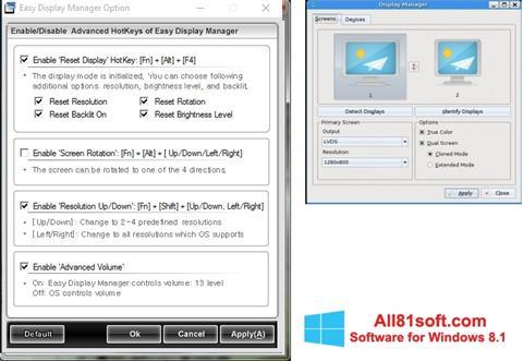 Ekran görüntüsü Easy Display Manager Windows 8.1