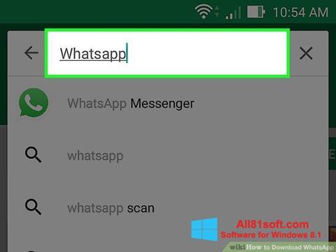 Ekran görüntüsü WhatsApp Windows 8.1